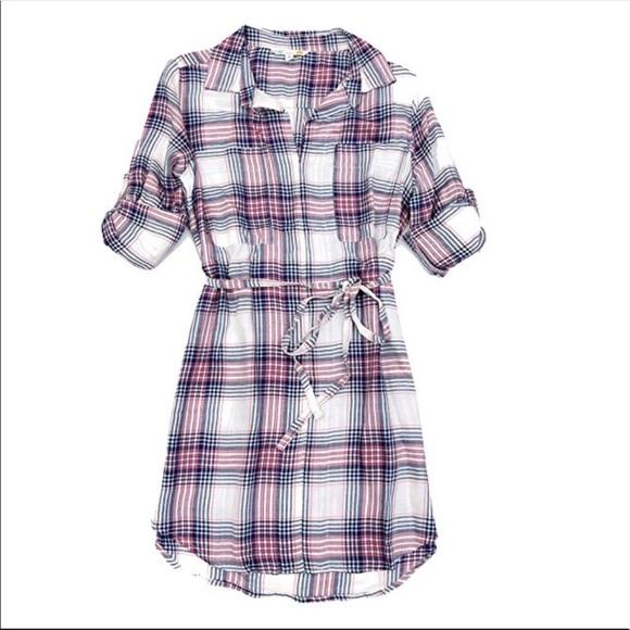 C&C California Dresses & Skirts - C&C California   Plaid Shirt Dress NWT   XS